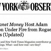 Thumbnail : New York Observer Picks Up S.H.A.M.E. Project Exposé On NPR Host Adam Davidson's Conflicted Ties To Wall Street Sponsors